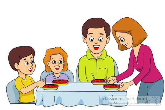 Family Having Meal Dinner Together