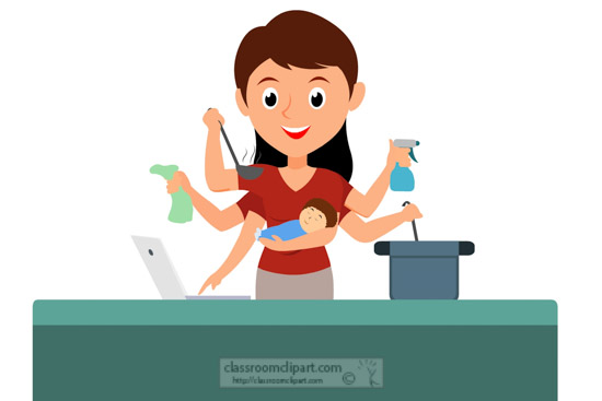 mother-multi-tasking-cooking-cleaning-technology-child-care-clipart.jpg