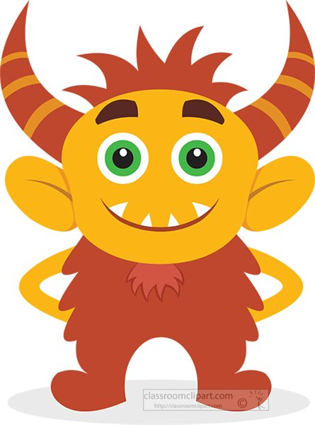 cute-yellow-and-brown-monster-clipart-318.jpg