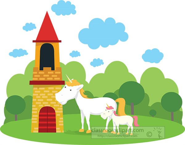 two-white-unicorns-at-a-castle-flat-vector-clipart.jpg