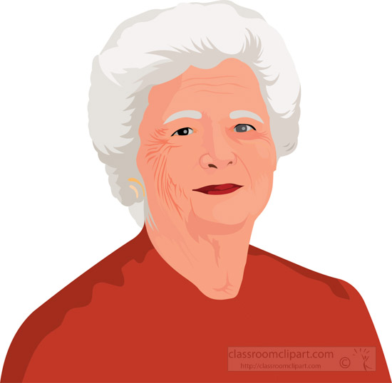 barbara-bush-the-first-lady-of-the-united-states-clipart.jpg