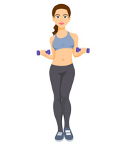 free fitness and exercise clipart clip art pictures graphics rh classroomclipart com workout girl clipart workout girl clipart