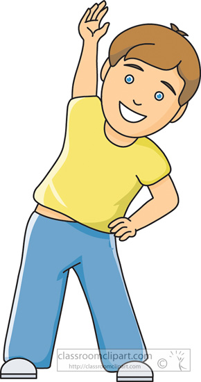 fitness and exercise clipart exercise boy left bend 2 classroom