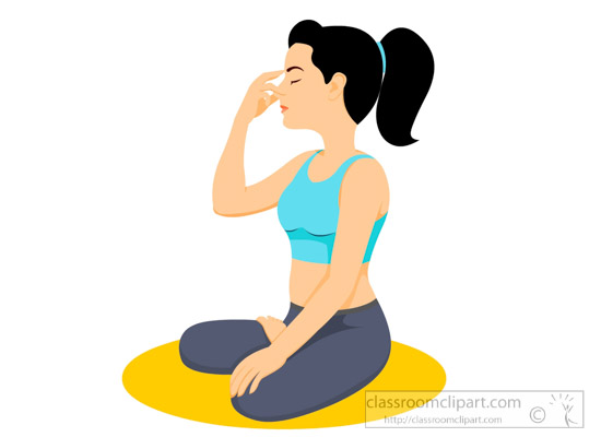 Yoga Breathing Exercise Health Clipart
