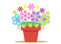 free flowers clipart clip art pictures graphics illustrations rh classroomclipart com flower pot clipart free flower pot clipart images