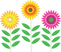 Clip Art Flower Clipart Images free flowers clipart clip art pictures graphics illustrations group brightly colored size 206 kb