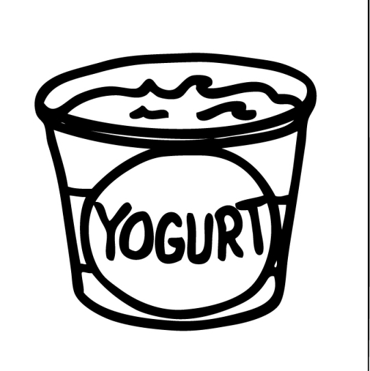 Dairy clipart clipart yogurt classroom clipart for Yogurt coloring page