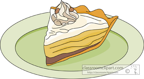 Dessert Clipart - banana_cream_pie_3_08 - Classroom Clipart