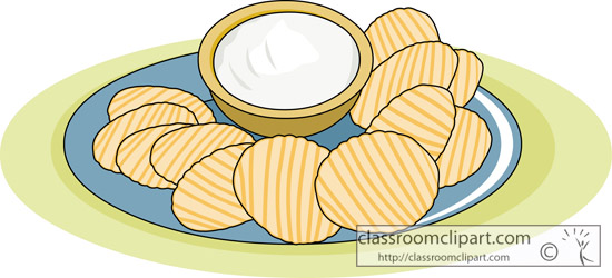 Dessert Clipart : chips_and_dip : Classroom Clipart