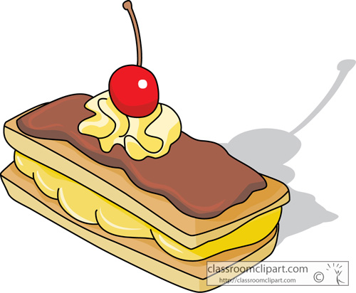Dessert Clipart : eclair_with_whipped_cream_center ...