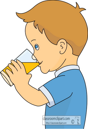 Drink and Beverage Clipart Clipart- boy_drinking_orange ...