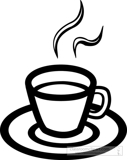 Drink and Beverage Clipart Clipart- hot-cup-coffee-outline ...