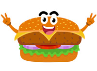 free fast food clipart clip art pictures graphics illustrations rh classroomclipart com cheeseburger clip art free cartoon cheeseburger clipart