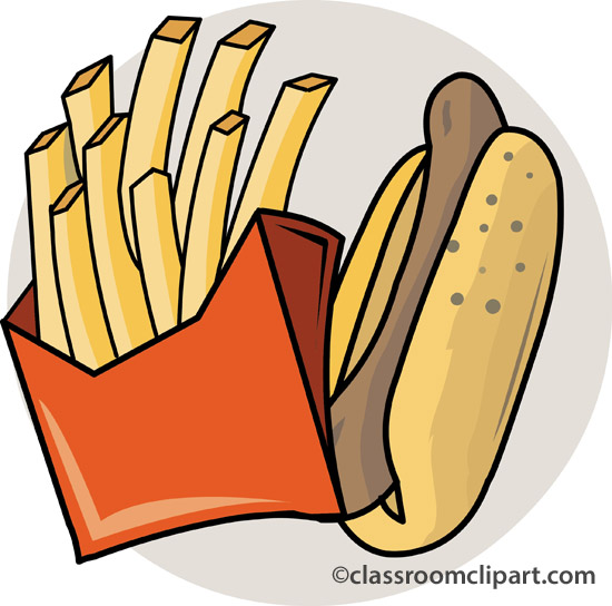 Hotdog And Chips Clipart From Fast Food Clipart