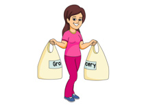 Clip Art Grocery Clipart free grocery clipart pictures illustrations clip art and graphics lady with her shopping bags size 25 kb