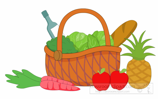 grocery clipart clipart basket full of fruit vegetables grocery rh classroomclipart com grocery clipart free grocery clipart images