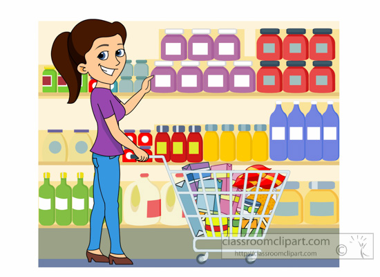 grocery clipart clipart lady shopping at grocery store food shopping clipart clipart grocery shopping cart