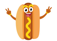 free hotdog clipart clip art pictures graphics illustrations rh classroomclipart com clipart hotdog with face on clipart hamburgers hot dogs