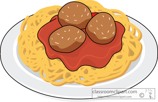Spaghetti Food Clipart