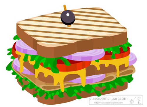 Sandwich Clipart Clipart- club-sandwich-with-ham-clipart ...