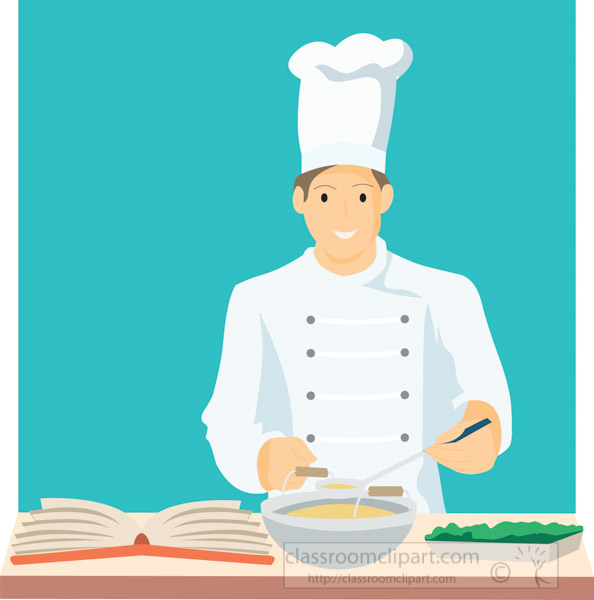 chef-using-cookbook-preparing-food-clipart-image.jpg