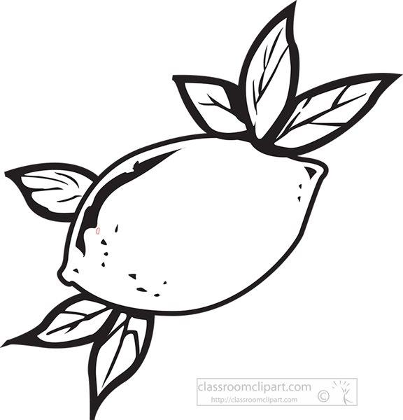 black-outline-lemon-with-leaf-clipart.jpg