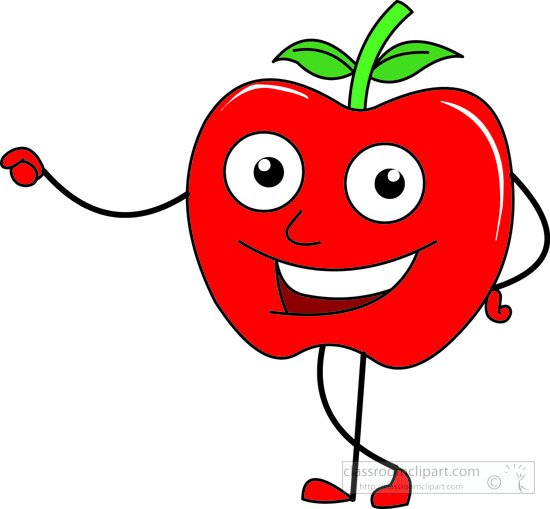 free smiling apple clipart - photo #21