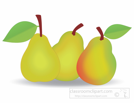 Fruits Clipart - three-pears-clipart-1161 - Classroom Clipart