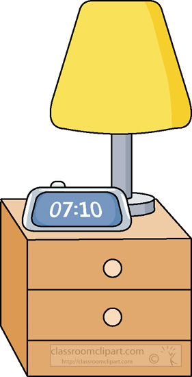 Bedroom Nightstand With Lamp 0115