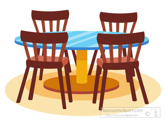 Furniture Clipart- dining-table-chairs-furniture-clipart ... Dining Chair Clipart