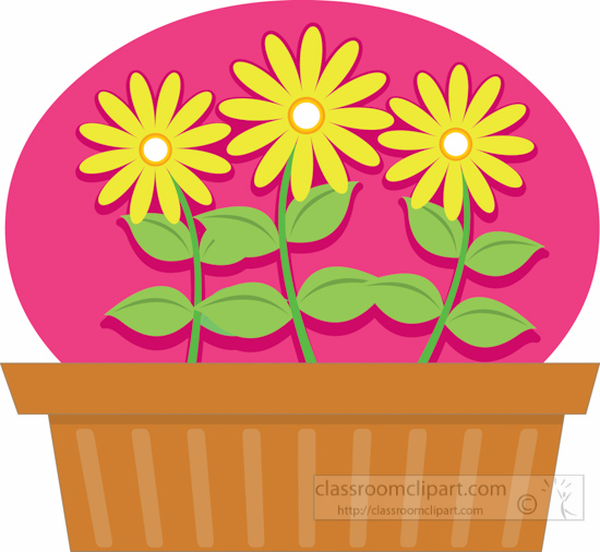 clipart flower in pot - photo #40