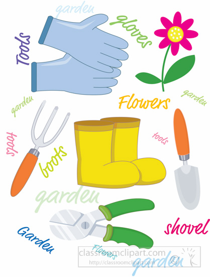 Gardening clipart variety gardening tools clipart 4 for Gardening tools 4 letters