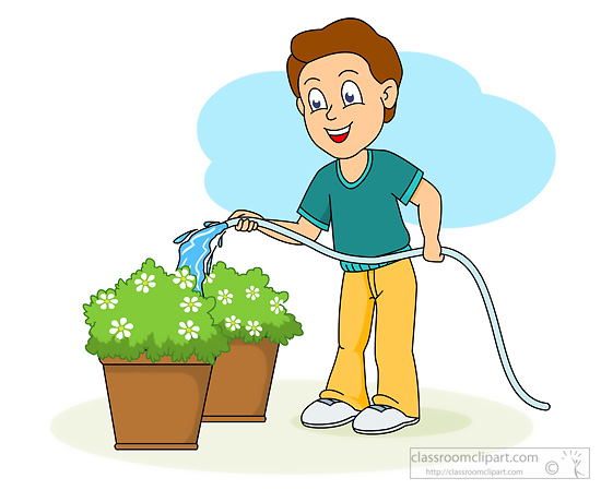 Gardening : water_to_plants : Classroom Clipart