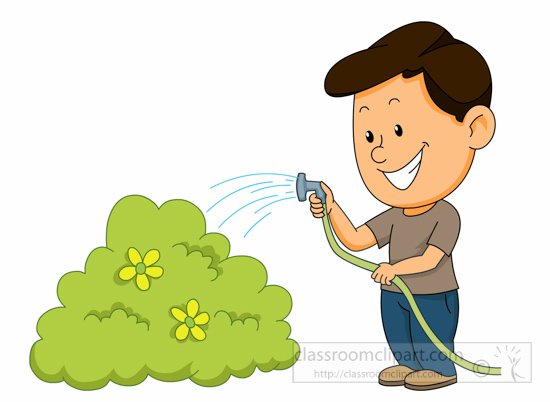 Gardening : watering-plants-with-a-hose-clipart-1161 ...