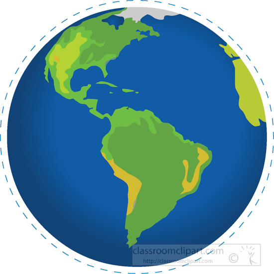 geography clipart earth globe south america north america clipart