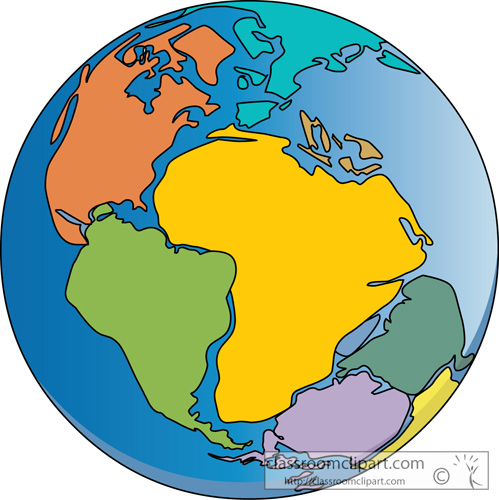 Geography Clipart- pangea_413 - Classroom Clipart