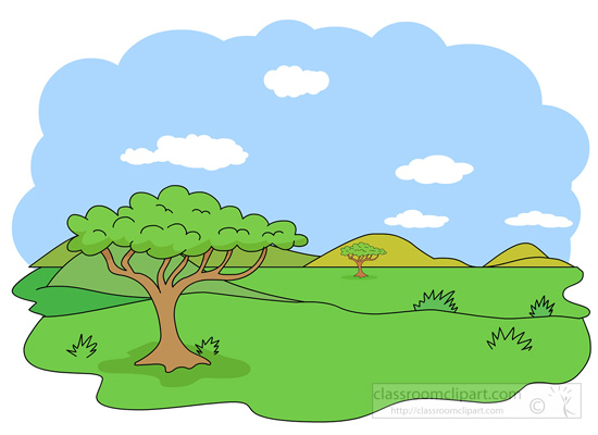 Geography : savanna-biome-clipart : Classroom Clipart