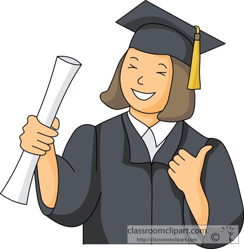 Clip Art Clipart Graduation free graduation clipart clip art pictures graphics illustrations graduate with cap gown holding books size 45 kb