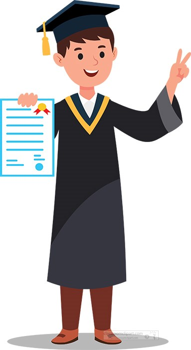 student-shows-peace-sign-while--showing--off-degree-on-graduation-day-clipart.jpg