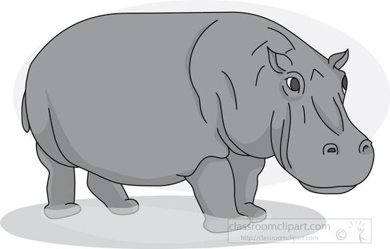 hippopotamus_in_water_01_2912_gray.jpg
