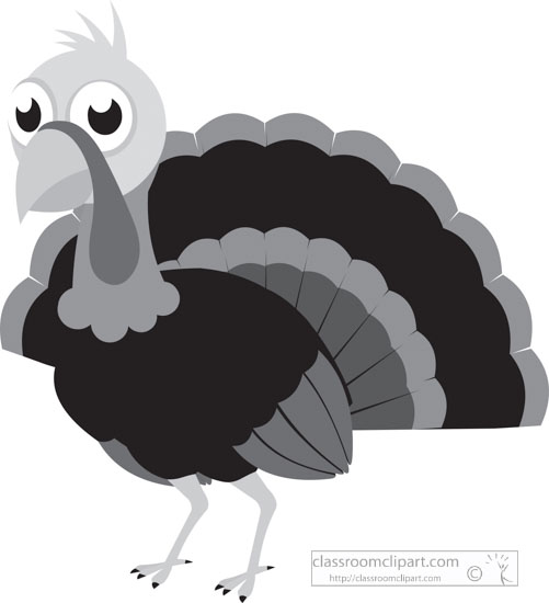 turkey-with-feathers-spread-animal-gray-clipart.jpg