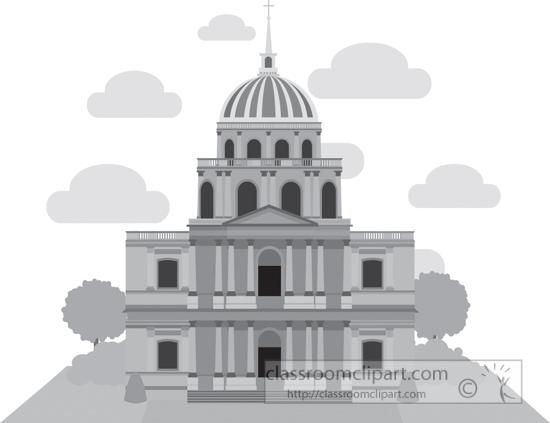 dome-of-les-invalides-paris-france-gray-clipart.jpg