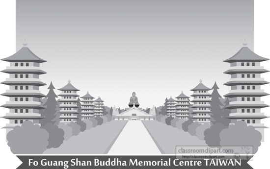fo-guang-shan-buddha-memorial-centre-kaohsiung-taiwan-gray-clipart.jpg