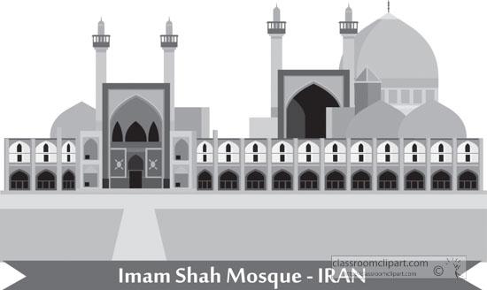 imam-shah-mosque-iran-gray-clipart.jpg
