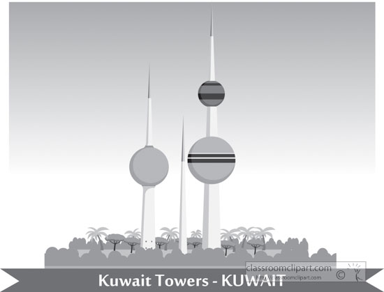 kuwait-towers-abraj-al-kuwait-gray-clipart.jpg
