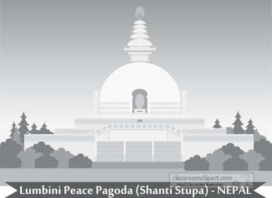 lumbini-peace-pagoda-shanti-stupa-nepal-gray-clipart.jpg
