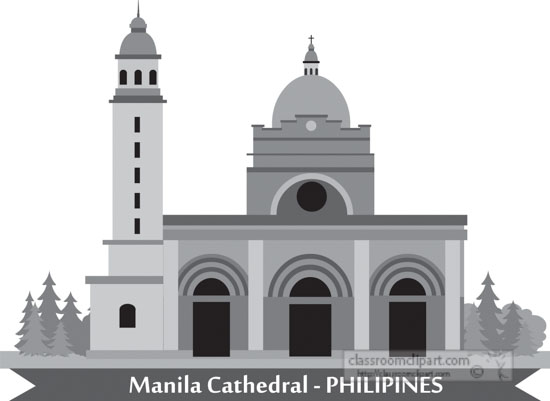 manila-cathedral-philipines-gray-clipart.jpg