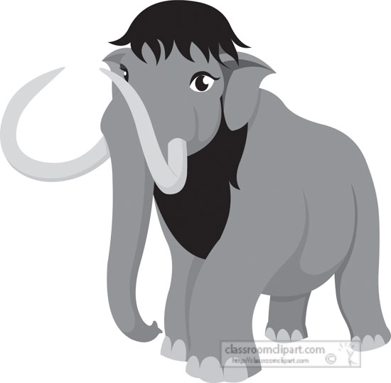 extinct-wolly-mammoth-gray-clipart.jpg
