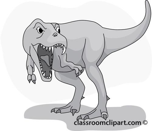 tyrannosaurus_clipart_08_gray.jpg