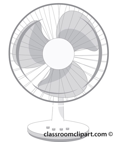 Electric Fan Clip Art : Household gray and white clipart electric fan r